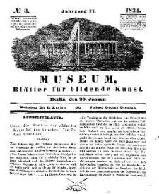 Museum, Blätter für bildende Kunst, Nr. 3, 20 Januar 1834, 2 Jhrg.