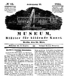 Museum, Blätter für bildende Kunst, Nr. 12, 24 März 1834, 2 Jhrg.