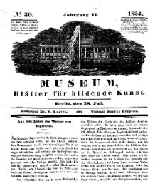 Museum, Blätter für bildende Kunst, Nr. 30, 28 Juli 1834, 2 Jhrg.