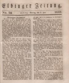 Elbinger Zeitung, No. 78 Montag, 9. Juli 1849