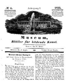Museum, Blätter für bildende Kunst, Nr. 4, 28 Januar 1833, 1 Jhrg.