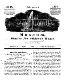 Museum, Blätter für bildende Kunst, Nr. 18, 6 Mai 1833, 1 Jhrg.