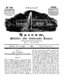 Museum, Blätter für bildende Kunst, Nr. 20, 20 Mai 1833, 1 Jhrg.