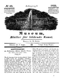 Museum, Blätter für bildende Kunst, Nr. 43, 28 October 1833, 1 Jhrg.