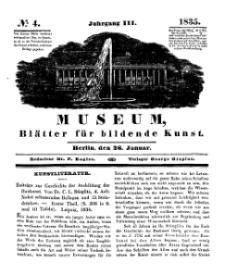Museum, Blätter für bildende Kunst, Nr. 4, 26 Januar 1835, 3 Jhrg.