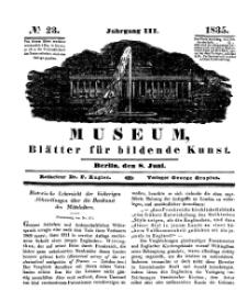 Museum, Blätter für bildende Kunst, Nr. 23, 8 Juni 1835, 3 Jhrg.