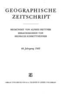 Geographische Zeitschrift, 48. Jhrg.
