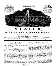 Museum, Blätter für bildende Kunst, Nr. 3, 18 Januar 1836, 4 Jhrg.