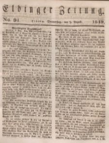 Elbinger Zeitung, No. 91 Donnerstag, 9. August 1849