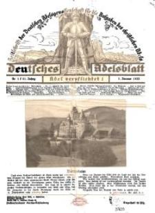 Deutsches Adelsblatt, Nr. 1, 51 Jahrg., 1 Januar 1933