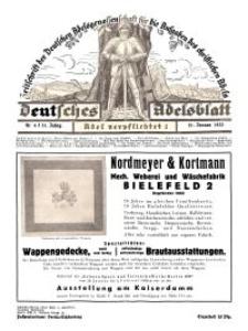 Deutsches Adelsblatt, Nr. 4, 51 Jahrg., 21 Januar 1933