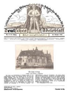 Deutsches Adelsblatt, Nr. 5, 51 Jahrg., 28 Januar 1933