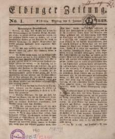 Elbinger Zeitung, No. 1 Montag, 1. Januar 1849