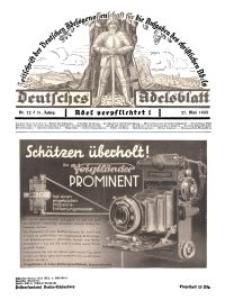 Deutsches Adelsblatt, Nr. 22, 51 Jahrg., 27 Mai 1933