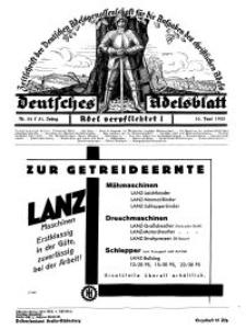 Deutsches Adelsblatt, Nr. 24, 51 Jahrg., 10 Juni 1933