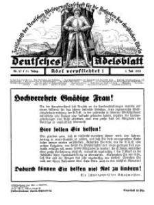 Deutsches Adelsblatt, Nr. 27, 51 Jahrg., 1 Juli 1933