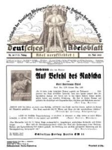 Deutsches Adelsblatt, Nr. 30, 51 Jahrg., 22 Juli 1933