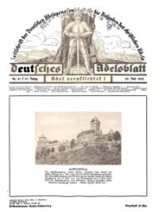 Deutsches Adelsblatt, Nr. 31, 51 Jahrg., 29 Juli 1933