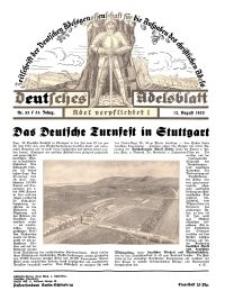 Deutsches Adelsblatt, Nr. 33, 51 Jahrg., 12 August 1933