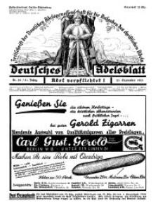 Deutsches Adelsblatt, Nr. 39, 51 Jahrg., 23 September 1933