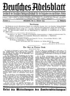 Deutsches Adelsblatt, Nr. 4, 52 Jahrg., 20 Januar 1934