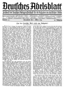 Deutsches Adelsblatt, Nr. 10, 52 Jahrg., 3 März 1934