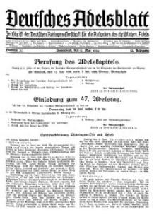 Deutsches Adelsblatt, Nr. 20, 52 Jahrg., 12 Mai 1934