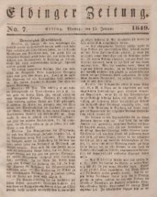 Elbinger Zeitung, No. 7 Montag, 15. Januar 1849