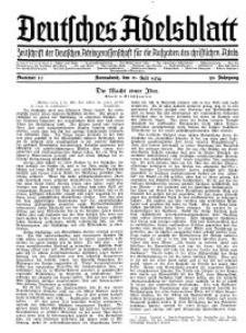 Deutsches Adelsblatt, Nr. 30, 52 Jahrg., 21 Juli 1934