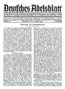 Deutsches Adelsblatt, Nr. 43, 52 Jahrg., 20 Oktober 1934