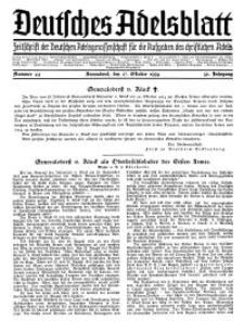 Deutsches Adelsblatt, Nr. 44, 52 Jahrg., 27 Oktober 1934