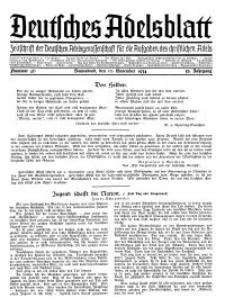 Deutsches Adelsblatt, Nr. 46, 52 Jahrg., 10 November 1934