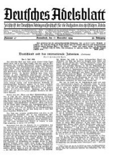 Deutsches Adelsblatt, Nr. 47, 52 Jahrg., 17 November 1934