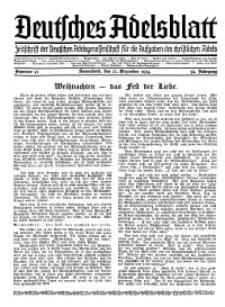 Deutsches Adelsblatt, Nr. 52, 52 Jahrg., 22 Dezember 1934