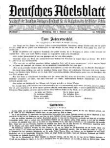 Deutsches Adelsblatt, Nr. 1, 53 Jahrg., 1 Januar 1935