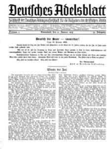 Deutsches Adelsblatt, Nr. 3, 53 Jahrg., 12 Januar 1935