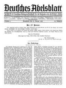 Deutsches Adelsblatt, Nr. 5, 53 Jahrg., 26 Januar 1935