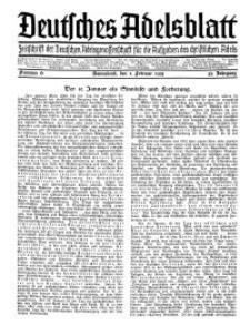 Deutsches Adelsblatt, Nr. 6, 53 Jahrg., 2 Februar 1935