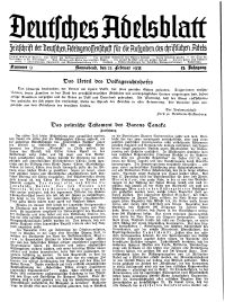 Deutsches Adelsblatt, Nr. 9, 53 Jahrg., 23 Februar 1935