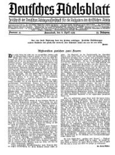 Deutsches Adelsblatt, Nr. 15, 53 Jahrg., 6 April 1935