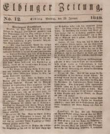 Elbinger Zeitung, No. 12 Montag, 29. Januar 1849