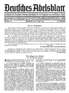 Deutsches Adelsblatt, Nr. 24, 53 Jahrg., 8 Juni 1935