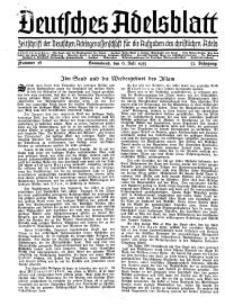 Deutsches Adelsblatt, Nr. 28, 53 Jahrg., 6 Juli 1935