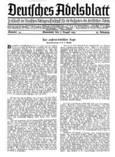 Deutsches Adelsblatt, Nr. 34, 53 Jahrg., 17 August 1935