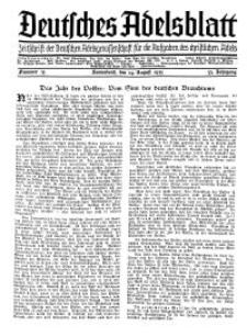 Deutsches Adelsblatt, Nr. 35, 53 Jahrg., 24 August 1935