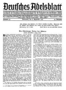 Deutsches Adelsblatt, Nr. 39, 53 Jahrg., 21 September 1935