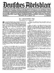 Deutsches Adelsblatt, Nr. 43, 53 Jahrg., 19 Oktober 1935