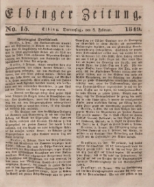 Elbinger Zeitung, No. 15 Donnerstag, 8. Februar 1849