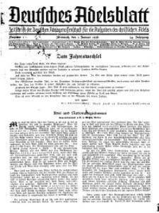 Deutsches Adelsblatt, Nr. 1, 54 Jahrg., 1 Januar 1936