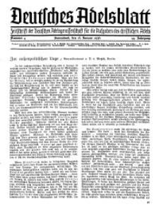 Deutsches Adelsblatt, Nr. 4, 54 Jahrg., 18 Januar 1936